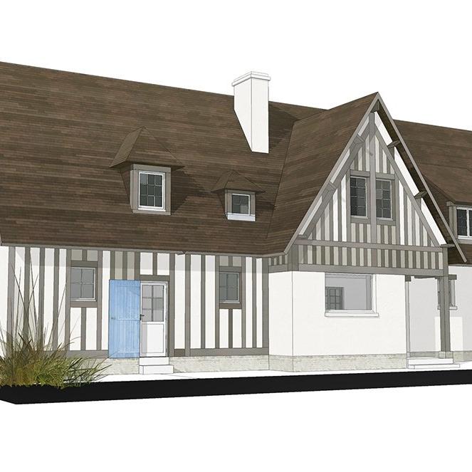 branellec bataille architecte agrandissement extension maison colombage 3D