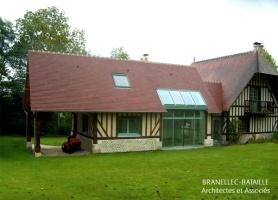 agrandissement maison normande verriere brevedent