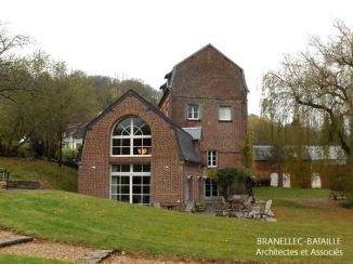 extension maison briques honfleur