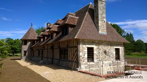 Agrandissement d une maison normande equemauville for Agrandissement maison 22