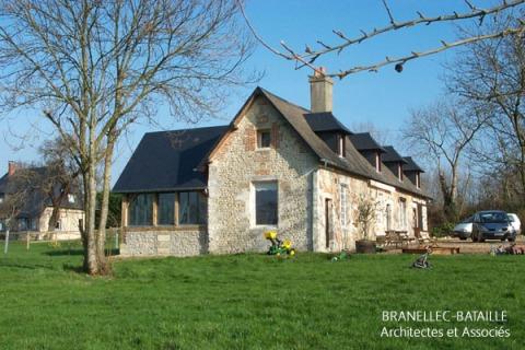 renovation maison normande pierres gonneville honfleur