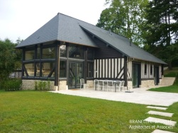 renovation pool house colombage maison pays d'auge