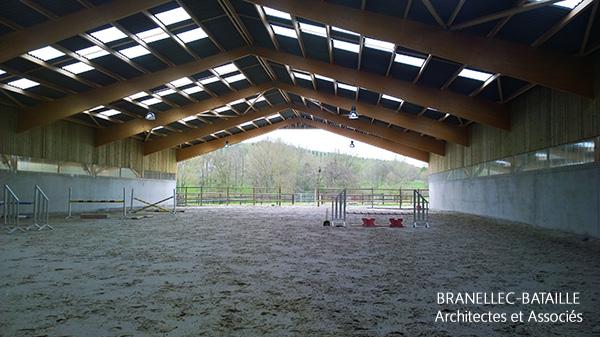 manege chevaux boxes bardage bois