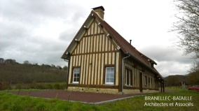 renovation colombage maison gite pays d'auge