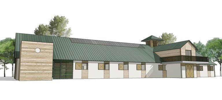 branellec bataille architecte centre equestre barn chevaux janville troarn
