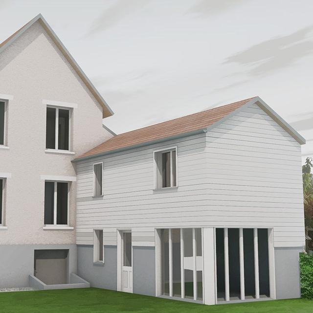 branellec bataille architecte agrandissement extension maison bardage bois dives sur mer