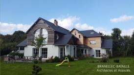 maison architecte bardage bois agrandissement extension gonneville honfleur pays d'auge