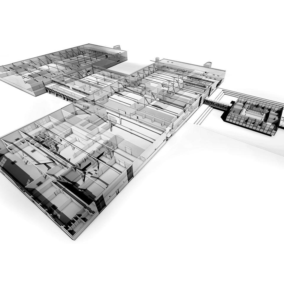 BIM modelisation 3D site industriel usine saint arnoult deauville