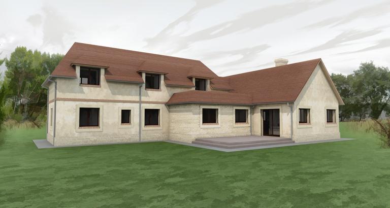 branellec bataille architecte maison normande pierres surville pays d'auge 3D