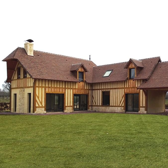 branellec bataille architecte construction maison colombages pays d'auge touques