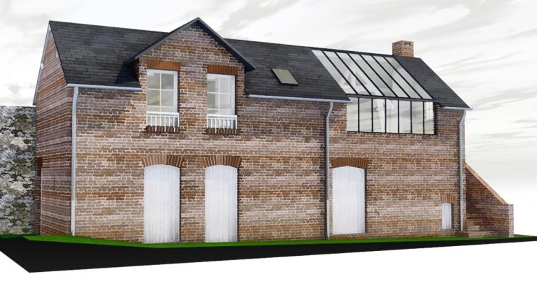 branellec bataille architecte renovation architecte briques verriere pays d'auge equemauville 3D