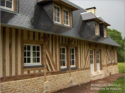 renovation maison normande saint etienne thillaye pays d'auge colombages