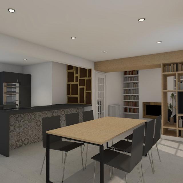 branellec bataille architecte amenagement interieur sejour cuisine equemauville 3D