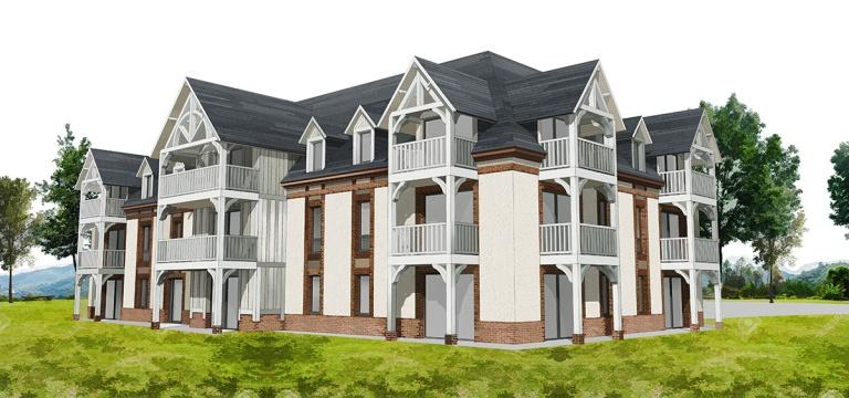 branellec bataille architecte appartements saint gatien logement collectif 3D