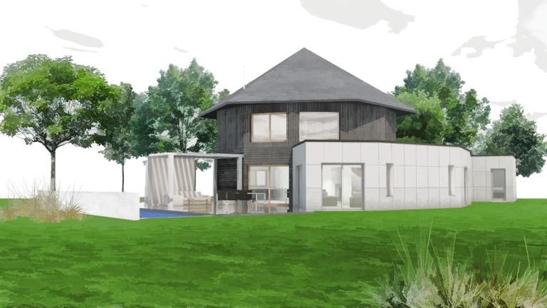 branellec bataille architecte extension maison bois contemporaine gonneville mer 3D