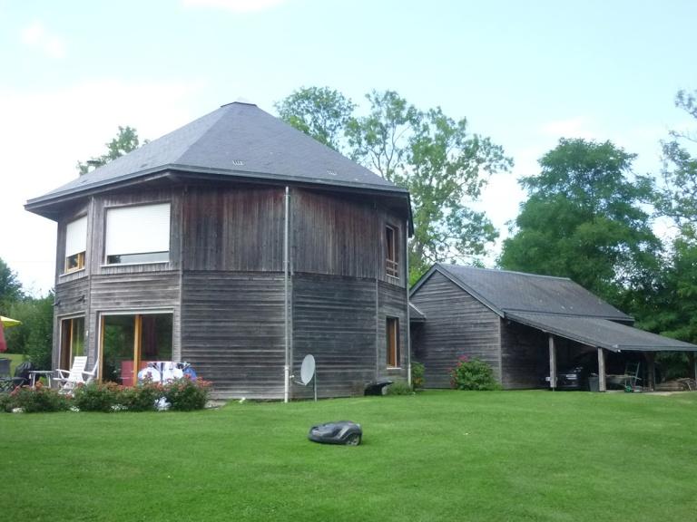 branellec bataille architecte extension maison bois contemporaine gonneville mer