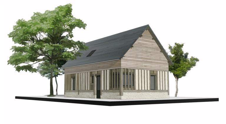 branellec bataille architecte maison bonneville sur touques 3D
