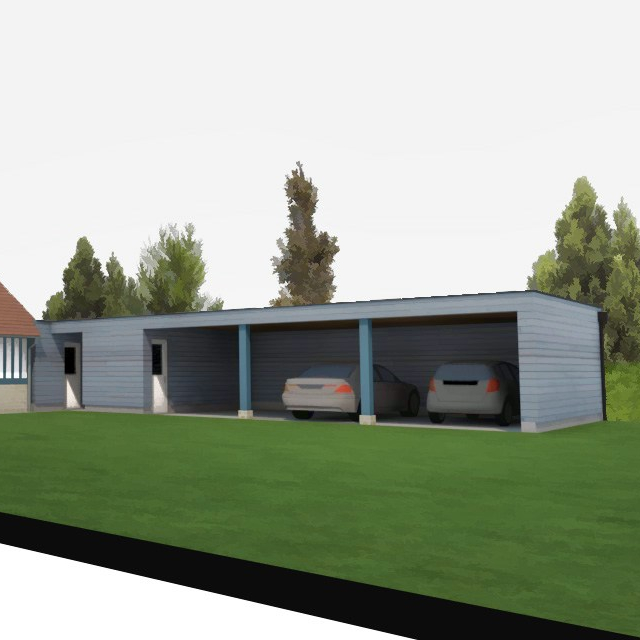 branellec bataille architectes carport bardage bois danestal