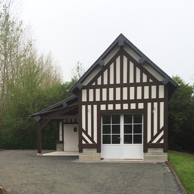 branellec bataille architecte maison dependance colombages saint martins aux chartrains