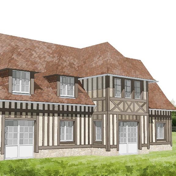 branellec bataille architecte maison colombages 3D reux