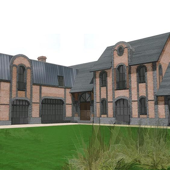 branellec bataille architecte maison briques saint etienne la thillaye