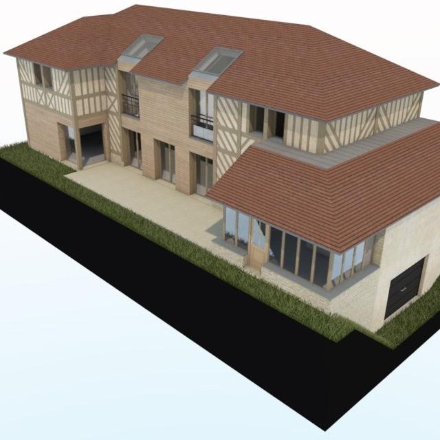 branellec bataille architecte construction maison tourville en auge
