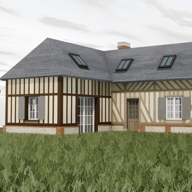 branellec bataille architecte renovation extension colombage blangy le chateau