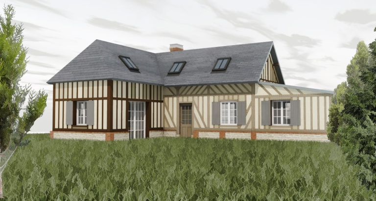branellec bataille architecte renovation extension colombage blangy le chateau