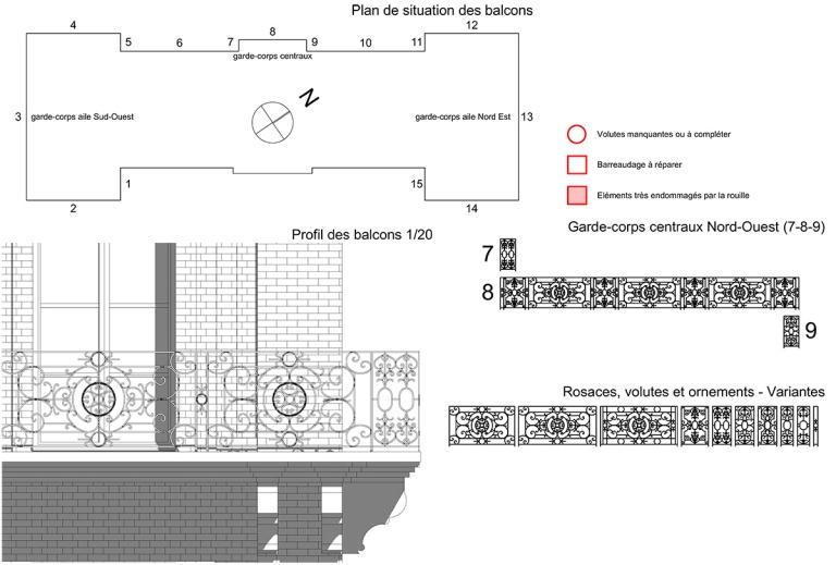 branellec bataille architecte renovation balcons roches noires trouville sur mer dessin 3D