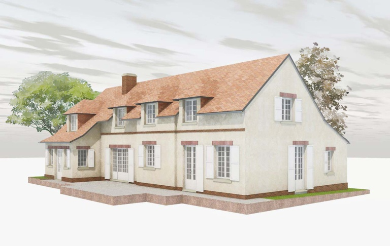 branellec bataille architecte surelevation renovation extension maison gonneville auge