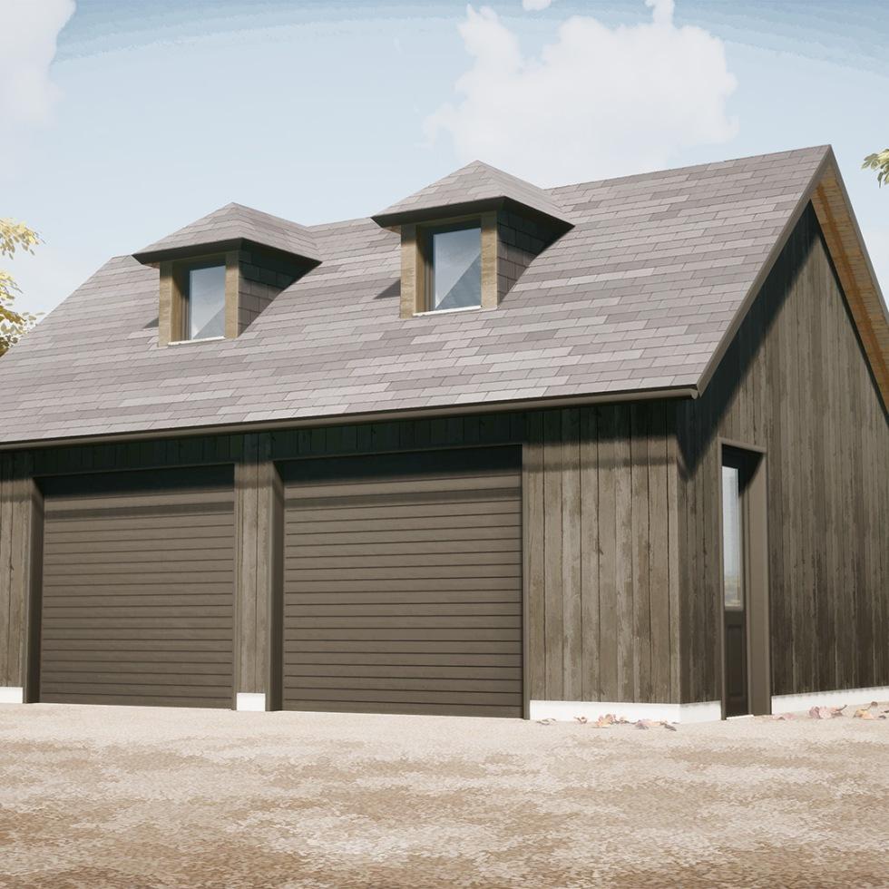 branellec bataille architectes dependance garage houlgate bois 3D