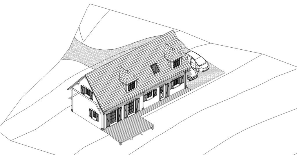 branellec bataille architecte construction maison campagne breuil en auge 3D