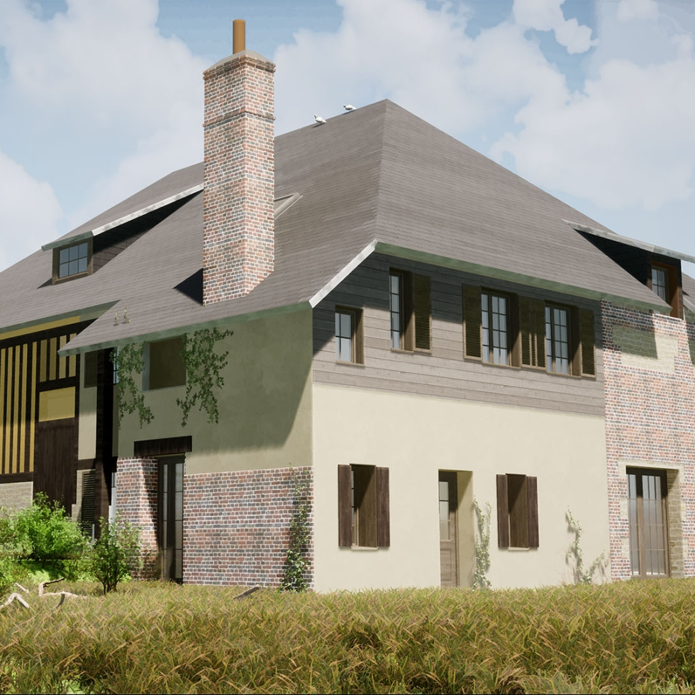 renovation immeuble manerbe 3D