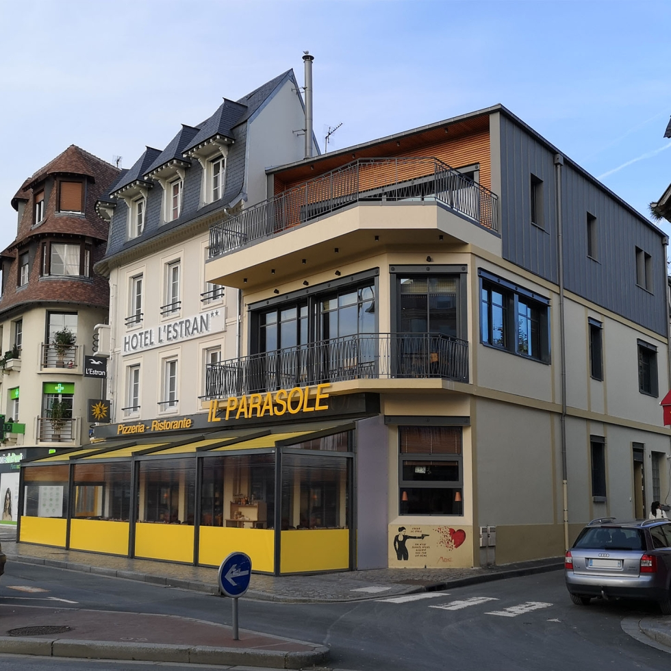 renovation restaurant trouville sur mer bois zinc contemporain