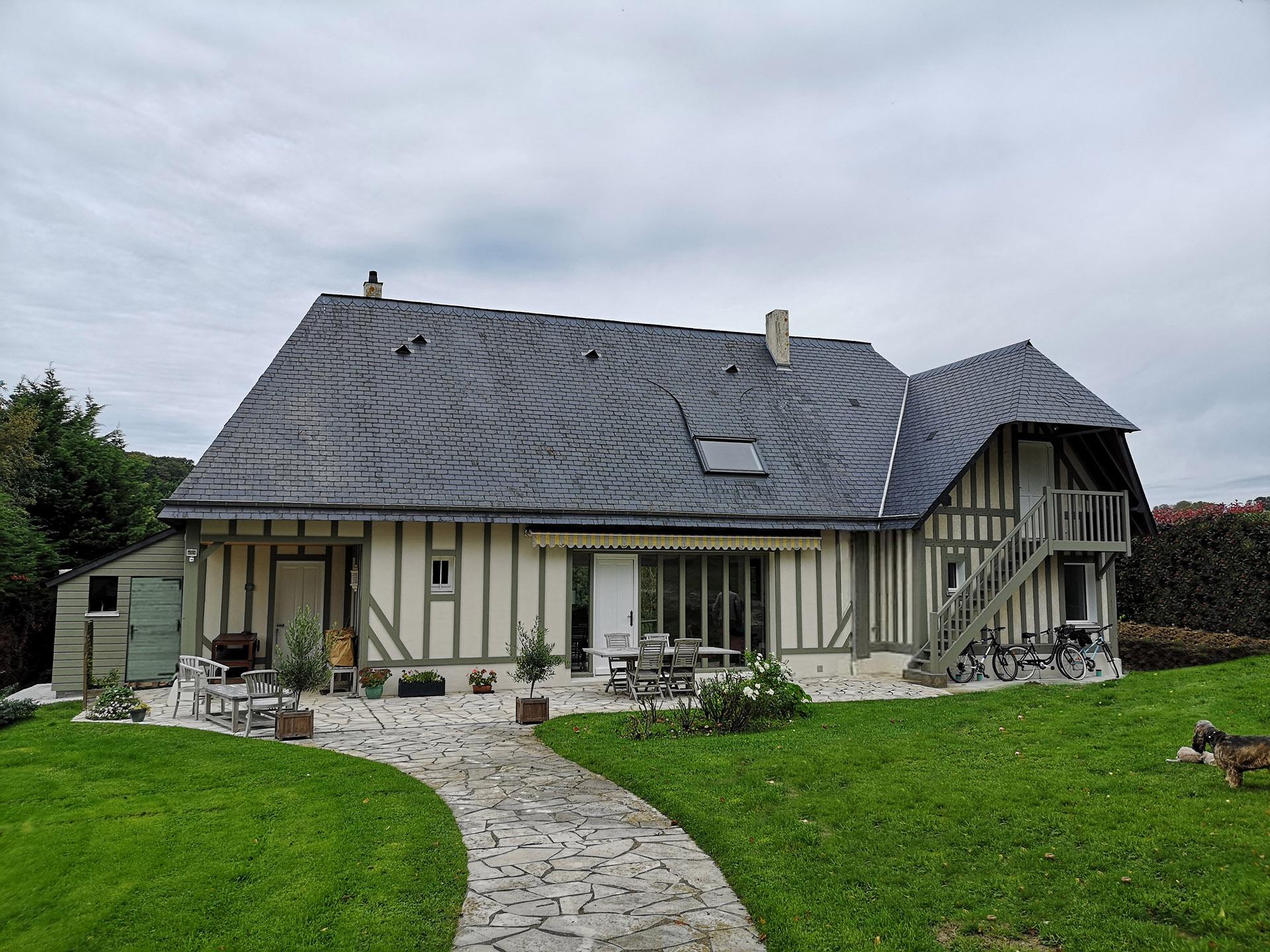 branellec bataille architecte extension maison colombages normande gonneville mer