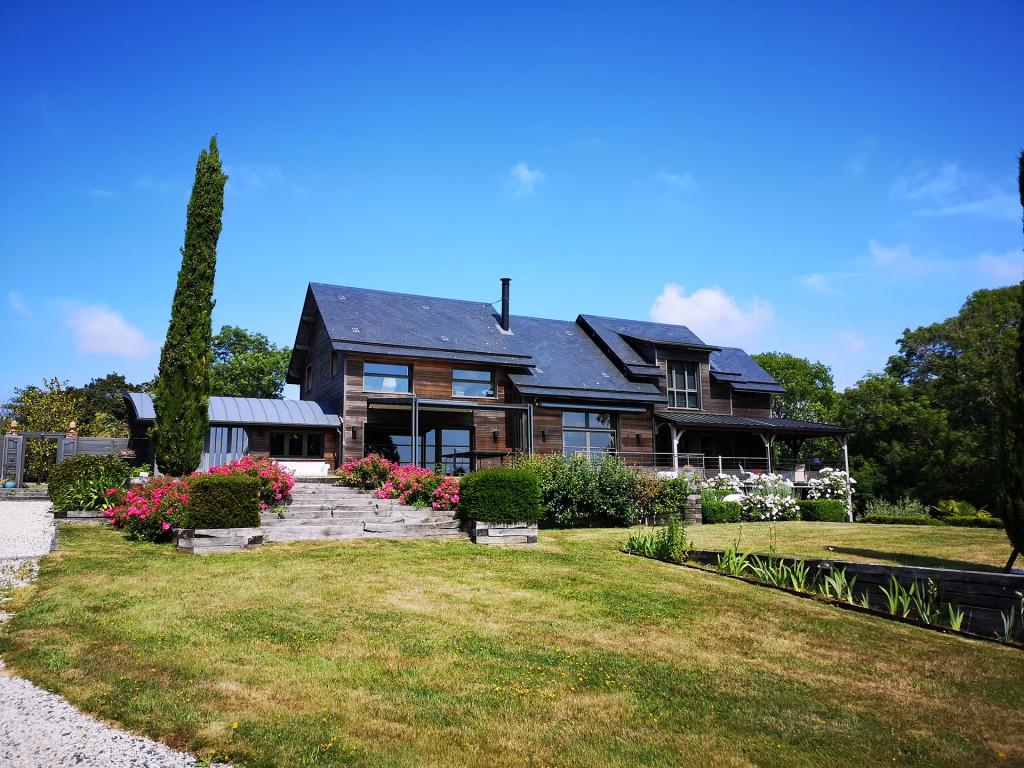 branellec bataille architecte extension maison bois contemporaine touques