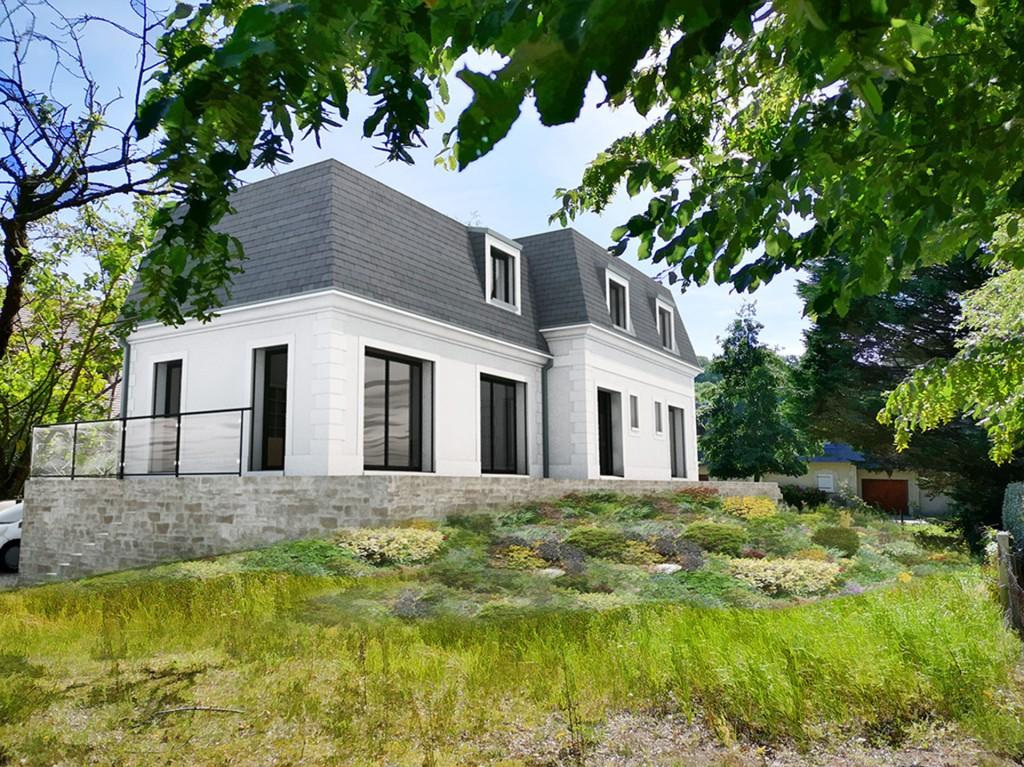 construction maison toit mansard tourgeville ardoises 3D