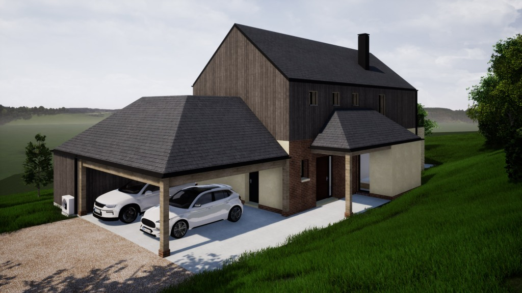 branellec bataille architecte maison vieux-bourg pierres bois briques ardoises 3D