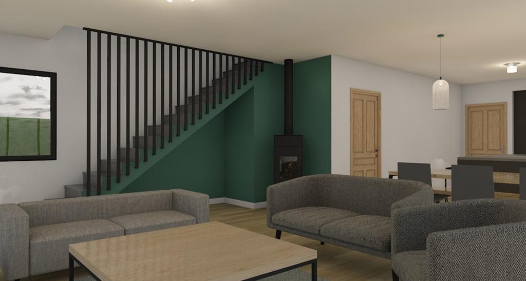 branellec bataille architecte maison vieux-bourg escalier 3D