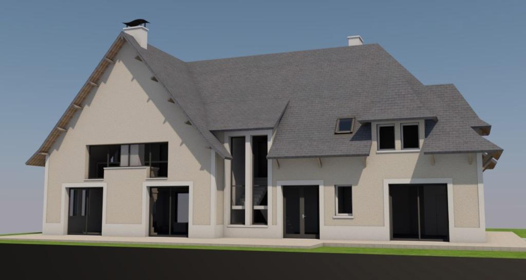 renovation maison facade villers sur mer 3D